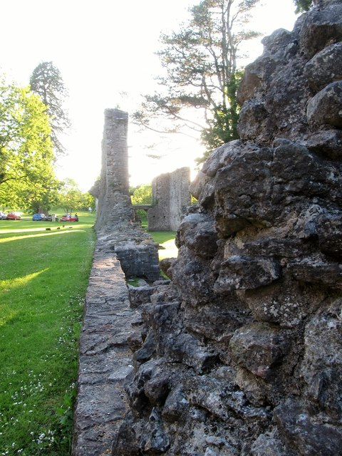 The ruined walls of Armagh's Franciscan Friary