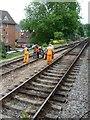 SU7239 : Maintaining the permanent way, Alton Station by Christine Johnstone
