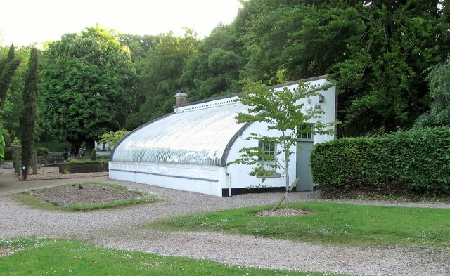 A nineteenth century glass house in the Archbishop's Palace garden