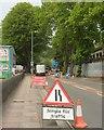 SX9165 : Roadworks, Lymington Road, Torquay by Derek Harper
