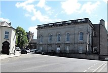 H8745 : The front of the Armagh Public Library viewed from Abbey Street by Eric Jones