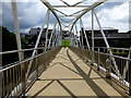 H4572 : Footbridge with shadows, Omagh by Kenneth  Allen