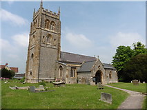 ST3733 : Church of the Holy Cross, Middlezoy by Roger Cornfoot