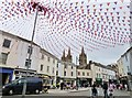 SW8244 : Flags are out at Victoria Square, Truro by Derek Voller