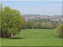 SE2436 : Football and rugby pitches, Bramley Fall by Stephen Craven
