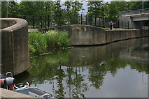 TQ3784 : Former confluence of River Lea (or Lee) and Pudding Mill River by David Kemp