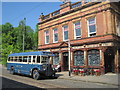 SK3454 : Crich Tramway Museum: Vintage bus outside The 'Red Lion' by Nigel Thompson