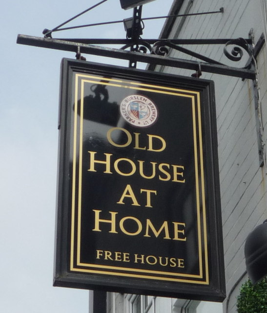 Sign for the Old House At Home public house, Hartshill