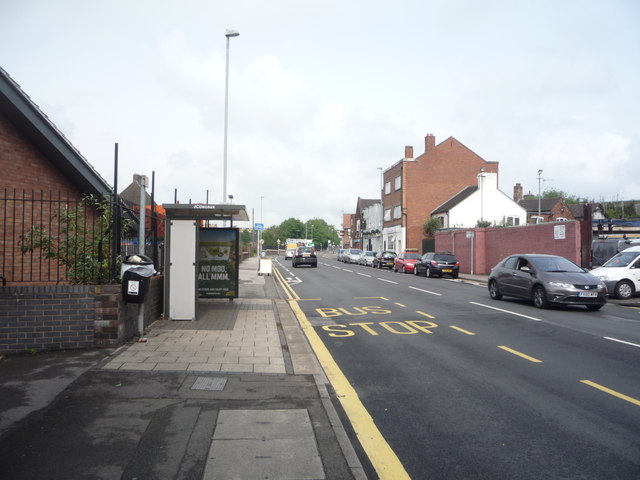 Bus stop and shelter on Hartshill Road (A52)