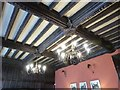 SW6031 : Decorated ceiling beams in the Dining Room at Godolphin House by Derek Voller