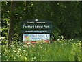 TL8685 : Thetford Forest Park sign by Adrian Cable
