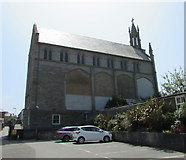 SW4730 : North side of Penzance Roman Catholic church by Jaggery