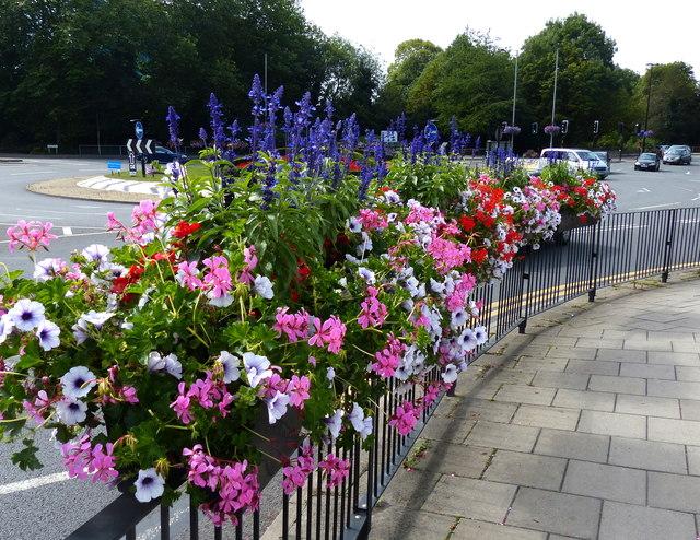 Flowers on the A413 Walton Street, Aylesbury