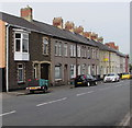 ST3288 : Long row of houses, Christchurch Road, Newport by Jaggery