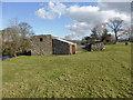 SH4659 : Barn beside the Afon Gwyrfai by David Medcalf