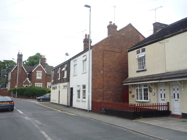 Houses on Audley Road, Alsager