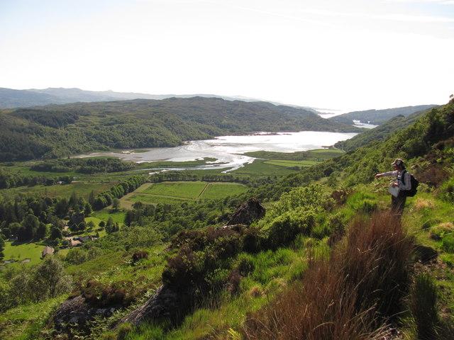 Steep footpath, good view