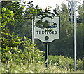 TL8684 : Thetford Town sign on the A1066 Mundford Road by Adrian Cable