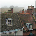 SK9771 : Bailgate rooftops and the Castle wall by John Sutton