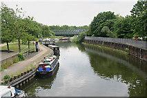 TQ3882 : River Lea (or Lee) south of Three Mill Lane bridge by David Kemp