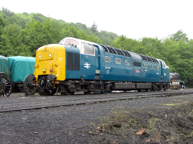 Class 55 on Grosmont shed