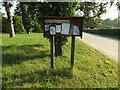 TL9383 : Brettenham Village Notice Board by Adrian Cable