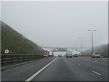 SD9814 : The top of the M62 at the Lancashire-Yorkshire boundary by John S Turner