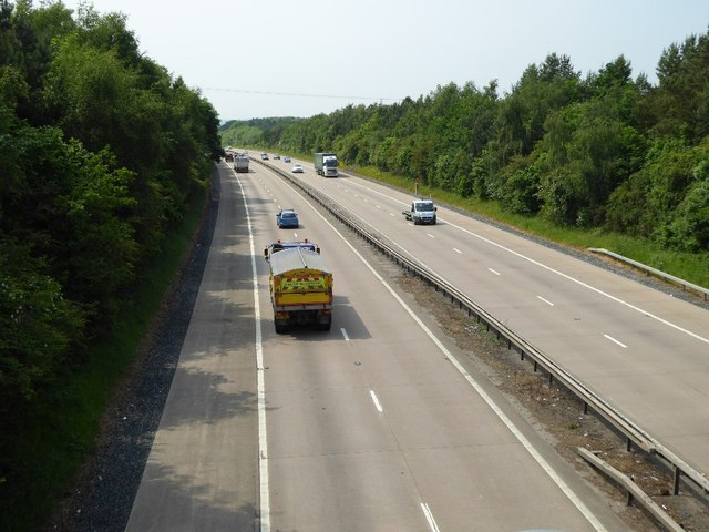 The M54 near Codsall Wood