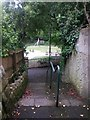 SZ0891 : Bournemouth: steps on footpath B18 by Chris Downer