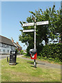 TM0848 : Roadsign on Hall Lane by Adrian Cable