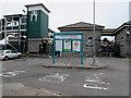 SS9079 : Information board outside Bridgend railway station by Jaggery