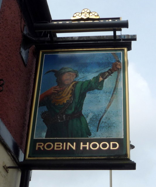 Sign for the Robin Hood, Hartshill