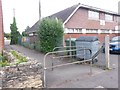 SZ0796 : Kinson: footpath E54 to Bramley Road by Chris Downer