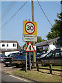 TM0948 : Somersham Village Name sign on Somersham Road by Adrian Cable