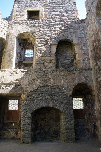 West end of Scalloway Castle from the floor of the Great Hall