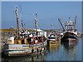 SW4628 : Fishing boats, Newlyn Harbour by Chris Allen