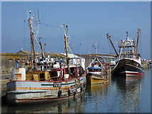 SW4628 : Fishing boats, Newlyn Harbour by Chris Allen