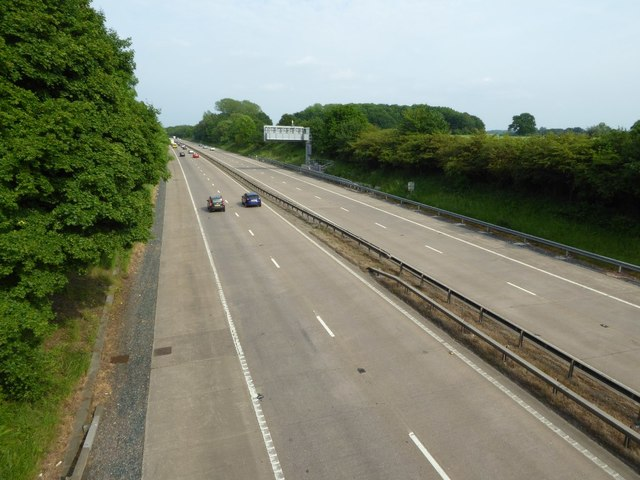 The M54 near Shackerley
