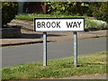 TM0848 : Brook Way sign by Adrian Cable