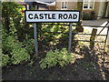 TM0649 : Castle Road sign by Adrian Cable