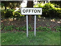 TM0649 : Offton Village Name sign by Adrian Cable
