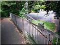 SZ0891 : Bournemouth: footpath B15 reaches Bodorgan Road by Chris Downer
