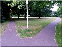 SZ0794 : Ensbury Park: footpaths N26 and N29 from Slades Farm Road by Chris Downer