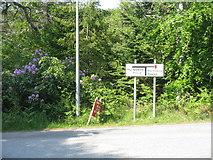 NG5536 : Road junction at Inverarish by M J Richardson
