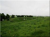 SE6722 : Field  pond  alongside  River  Aire  flood  bank by Martin Dawes