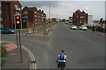 TQ2405 : On your marks: junction of Albion Street and Station Road, Shoreham Harbour by Chris