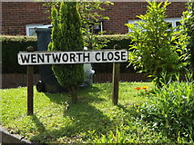 TM0849 : Wentworth Close sign on Hall Lane by Adrian Cable