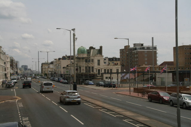 Kingsway, Hove, near junction with Seafield Road