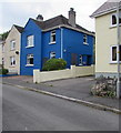 SS0698 : Blue house in Manor Crescent, Manorbier by Jaggery