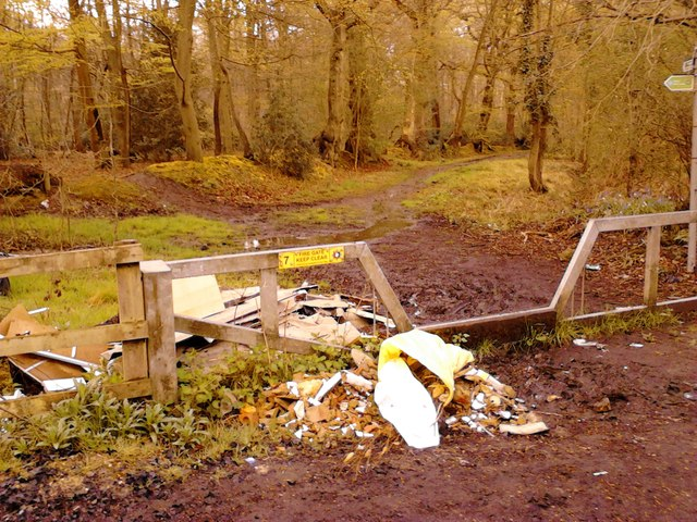 Fly-tipping: Rowley Woods, Wexham Street